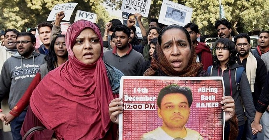 Najeeb-Ahmed Mother Protest PTI featured