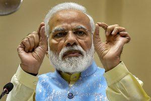 New Delhi: Prime Minister Narendra Modi speaks during the National Youth Parliament Festival, 2019 Awards function, in New Delhi, Wednesday, Feb 27, 2019. (PTI Photo/Manvender Vashist) (PTI2_27_2019_000026B)