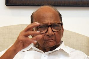 Mumbai: NCP President Sharad Pawar gestures as he speaks during an exclusive interview with PTI, at his residence in Mumbai, Saturday, March 16, 2019. (PTI Photo) (Story No. BMM1) (PTI3_16_2019_000097B)