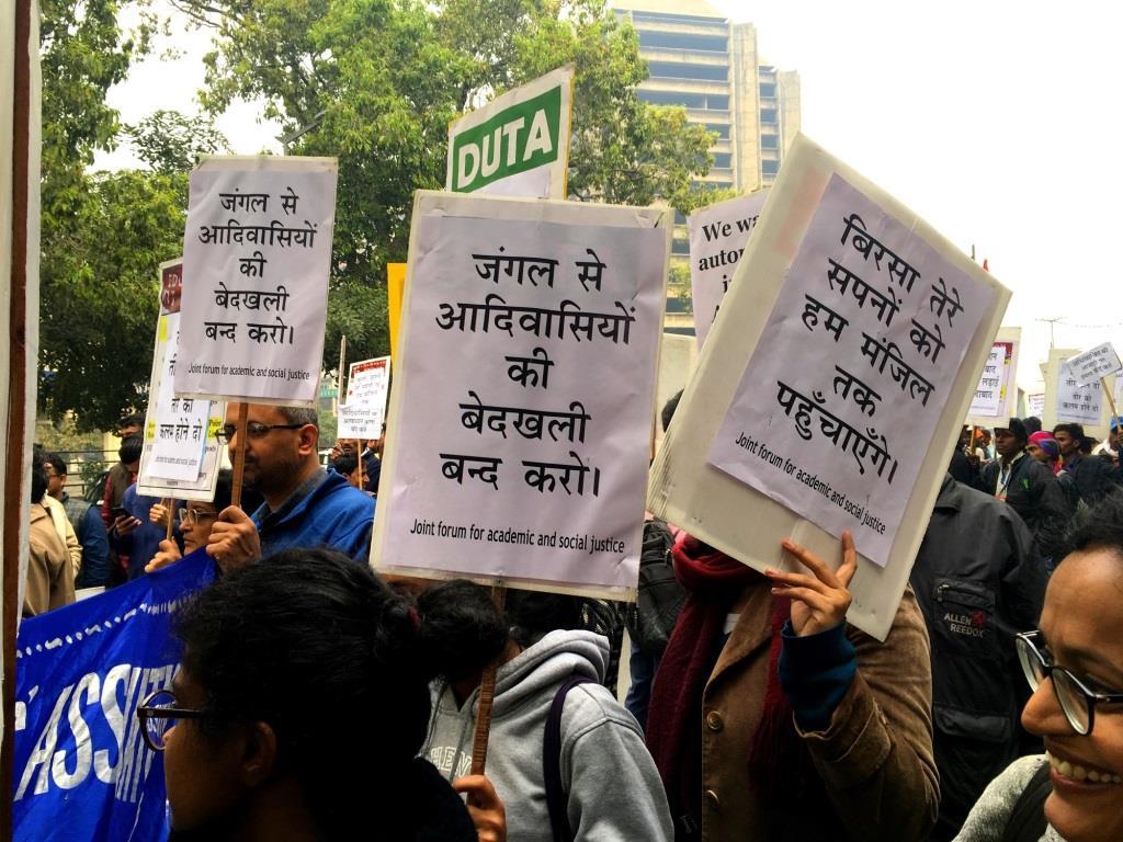 Tribals Protest Delhi