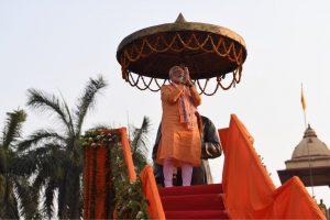 बीते 25 अप्रैल को वाराणसी में प्रधानमंत्री नरेंद्र मोदी ने रोड शो किया. (फोटो साभार: ट्विटर)