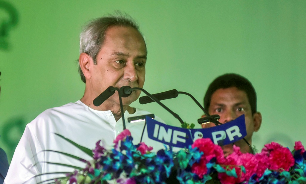 Bhubaneswar: Biju Janata Dal (BJD) President Naveen Patnaik takes oath as the Chief Minister of Odisha for a fifth consecutive term at the Idco Exhibition Ground, in Bhubaneswar, Wednesday, May 29, 2019. (PTI Photo) (PTI5_29_2019_000031B)