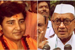 भोपाल से भाजपा की उम्मीदवार प्रज्ञा ठाकुर और कांग्रेस के उम्मीदवार दिग्विजय सिंह. (फोटो: पीटीआई)