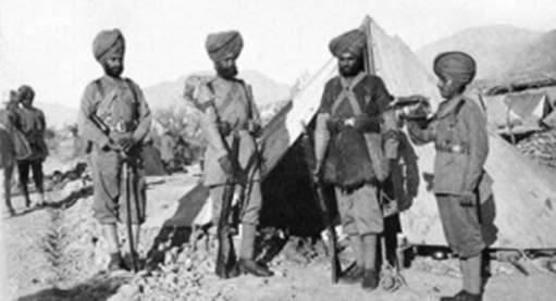 सिख रेजीमेंट के सैनिक
