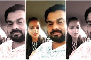 भाजपा विधायक पप्पू भरतौल की बेटी साक्षी और उनके पति अभी.