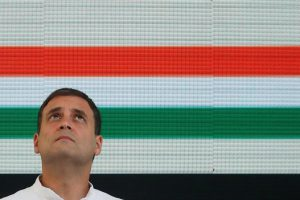 Rahul Gandhi, President of India's main opposition Congress party, looks up before releasing his party's election manifesto for the April/May general election in New Delhi, India, April 2, 2019. REUTERS/Adnan Abidi/File Photo