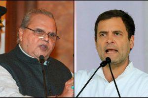 जम्मू कश्मीर के राज्यपाल सत्यपाल मलिक और कांग्रेस नेता राहुल गांधी. (फोटो: पीटीआई)
