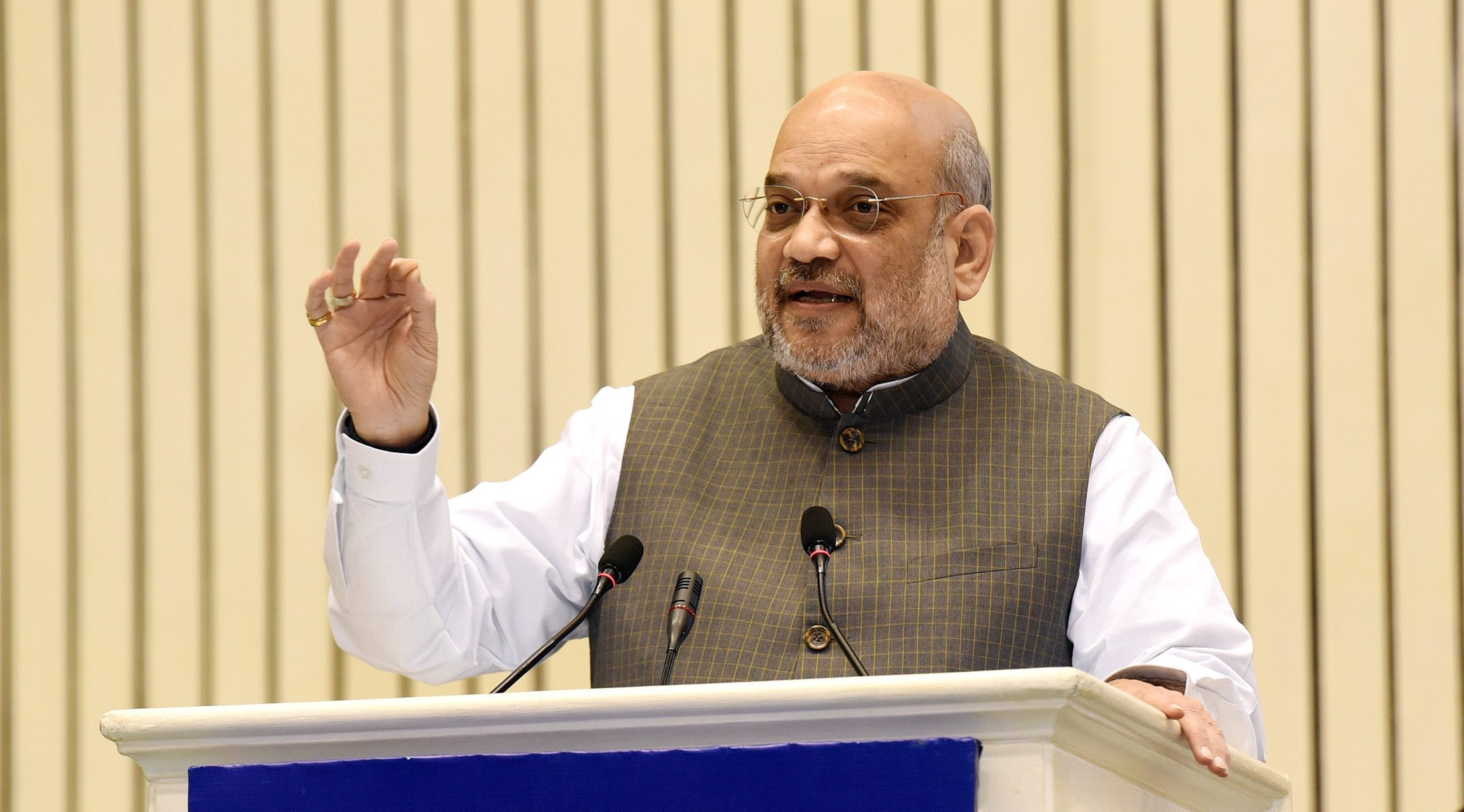 The Union Home Minister, Shri Amit Shah addressing the inaugural session of the 14th Annual Convention of the Central Information Commission, in New Delhi on October 12, 2019.