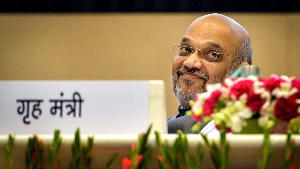 New Delhi: Home Minister Amit Shah looks on during the 'Hindi Divas Samaroh' in New Delhi, Saturday, Sept. 14, 2019. Hindi Divas is observed to mark the decision of the Constituent Assembly to extend official language status to Hindi on this day in 1949. Hindi Divas was first observed in 1953. (PTI Photo/Vijay Verma)(PTI9_14_2019_000073B)