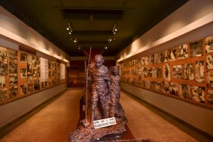 New Delhi: A gallery at the National Gandhi Museum displays rare photographs connected with Mahatma Gandhi, Kastur Ba and Indian Freedom Struggle, in New Delhi, Thursday, Sept. 26, 2019. To mark the 150th birth anniversary of Mahatma Gandhi this year various programmes are being orgnised in every nook and corner of the country. (PTI Photo/Manvender Vashist) (PTI10_1_2019_000241B)