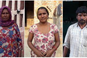 हरियाणा के बनियानी गांव के सांसी मोहल्ले में रहने वाली नाहरी देवी, अंगूरी देवी और सत्यवान (बाएं से दाएं).