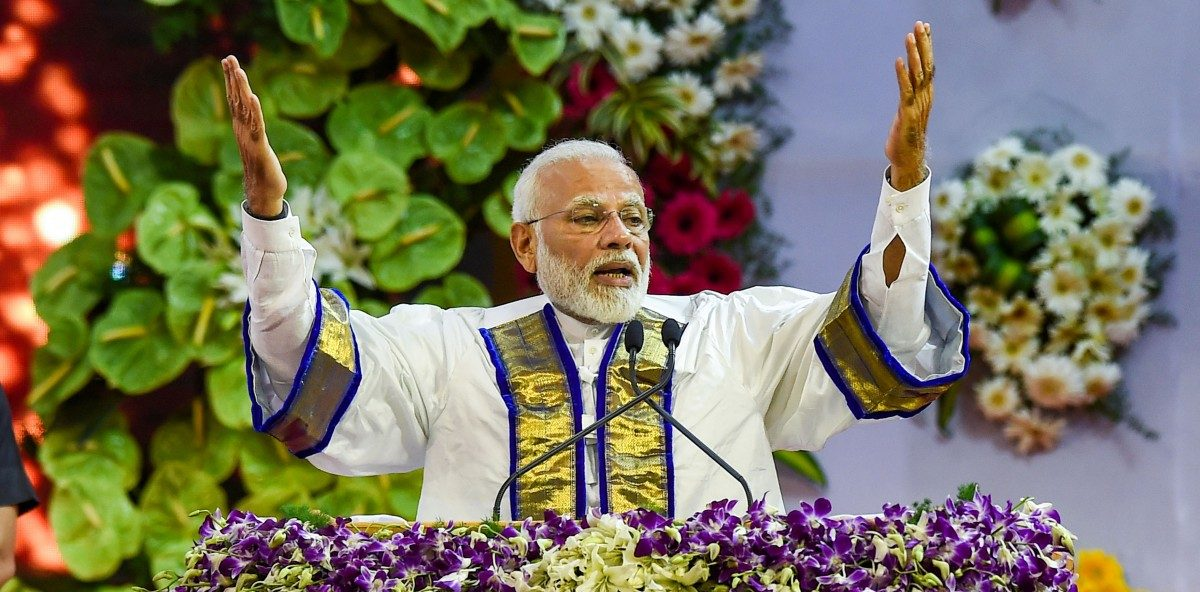 PM Modi addresses the annual convocation at IIT Madras in Chennai on September 30. Photo PTI