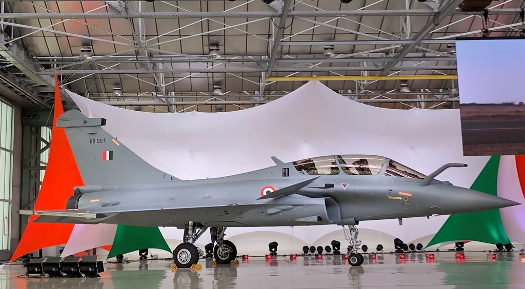Bordeaux: A view of Rafale Jet at its Dassault Aviation assembly line, in Bordeaux, France, Tuesday, Oct. 8, 2019. Rajnath Singh is in the city for the handover ceremony of the first Rafale combat jet acquired by the Indian Air Force. (PTI Photo) (PTI10_8_2019_000158B)