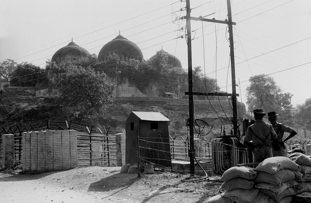 **EDS: FILE PHOTO** Ayodhya: In this Nov. 1990 file photo, a view of Babri Masjid. The Supreme Court is scheduled to pronounce on Saturday, Nov. 9, 2019 its verdict in the politically sensitive case of Ram Janmbhoomi-Babri Masjid land dispute in Ayodhya (PTI Photo)(PTI11_8_2019_000235B)