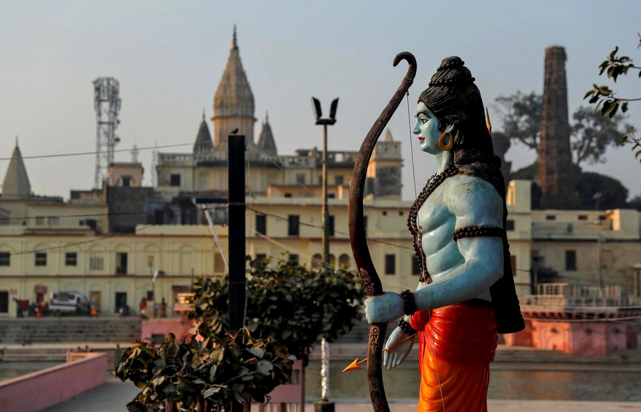 A statue of Hindu Lord Ram is seen after Supreme Court's verdict on a disputed religious site, in Ayodhya, India, November 10, 2019. REUTERS/Danish Siddiqui