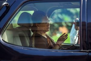 New Delhi: Congress President Sonia Gandhi arrives on the first day of the Winter Session of Parliament, in New Delhi, Monday,  Nov. 18, 2019. (PTI Photo/Kamal Singh) (PTI11_18_2019_000076B)