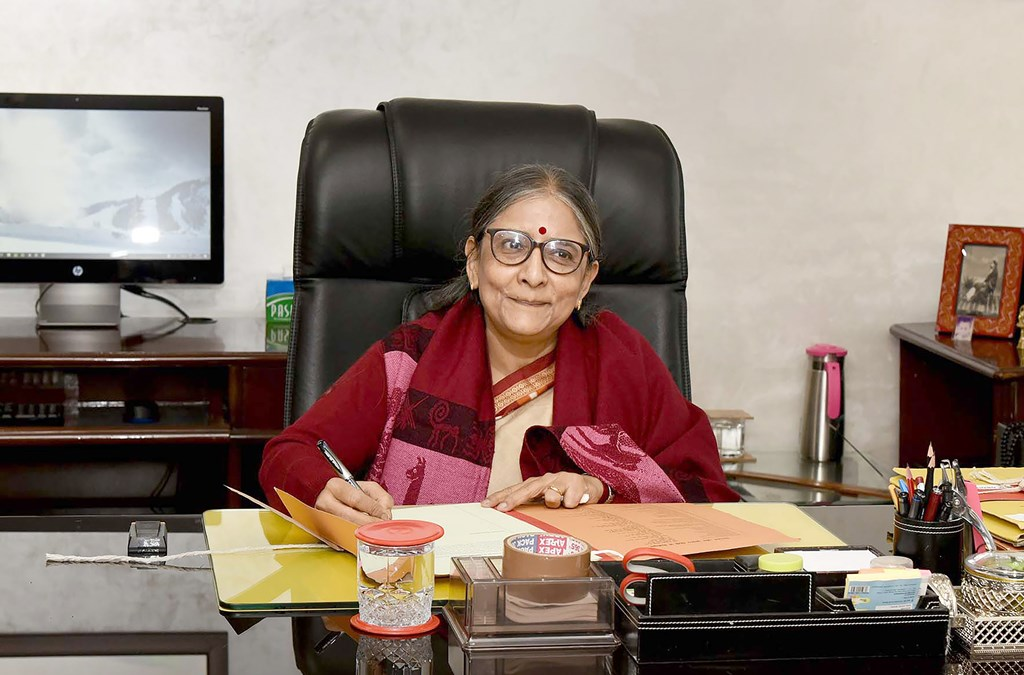 New Delhi: Soma Roy Burman, a 1986-batch Indian Civil Accounts Service Officer, takes charge as the new Controller General of Accounts, in New Delhi, Sunday, Dec. 1, 2019. (PIB/PTI Photo)(PTI12_1_2019_000057B)