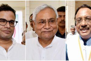 प्रशांत किशोर, नीतीश कुमार और पवन वर्मा. (फोटो: पीटीआई/फेसबुक)