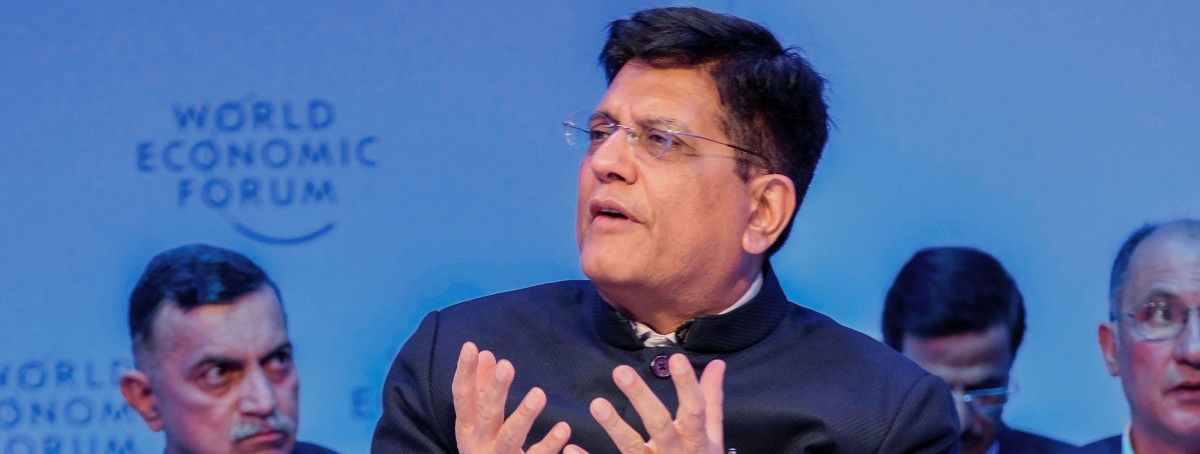 piyush goyal world economic forum pti