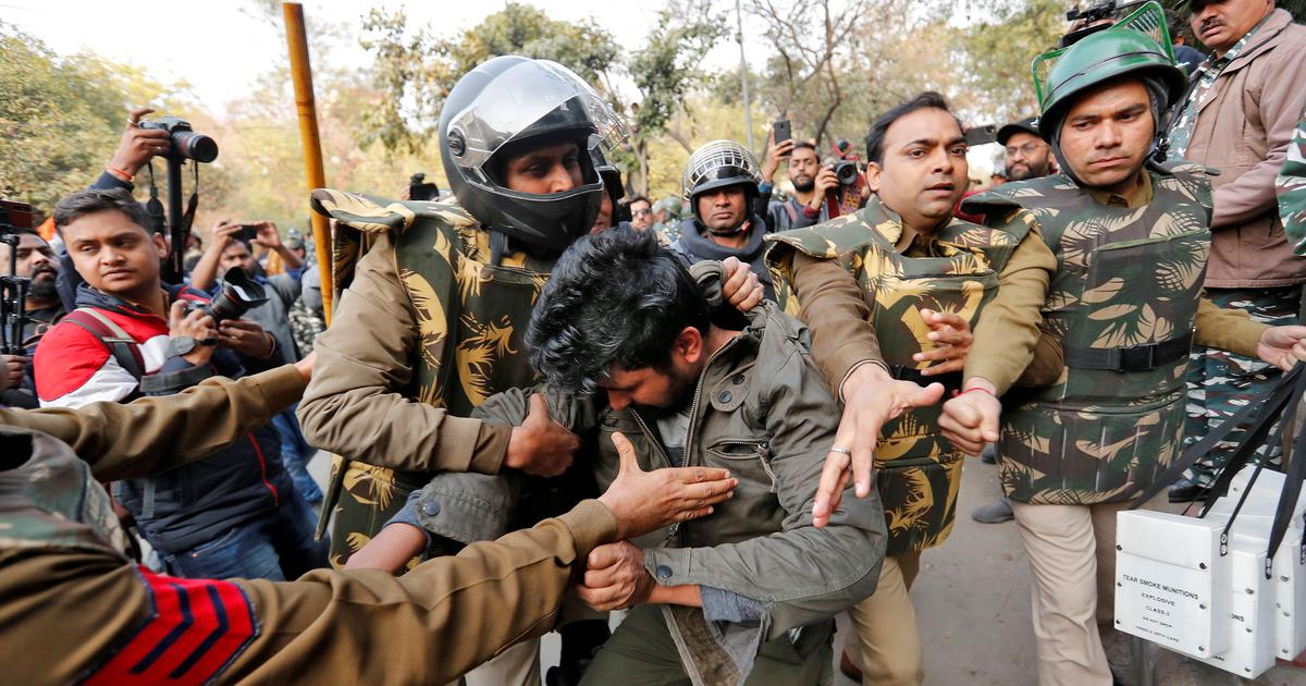 Jamia Students Protest Police Reuters