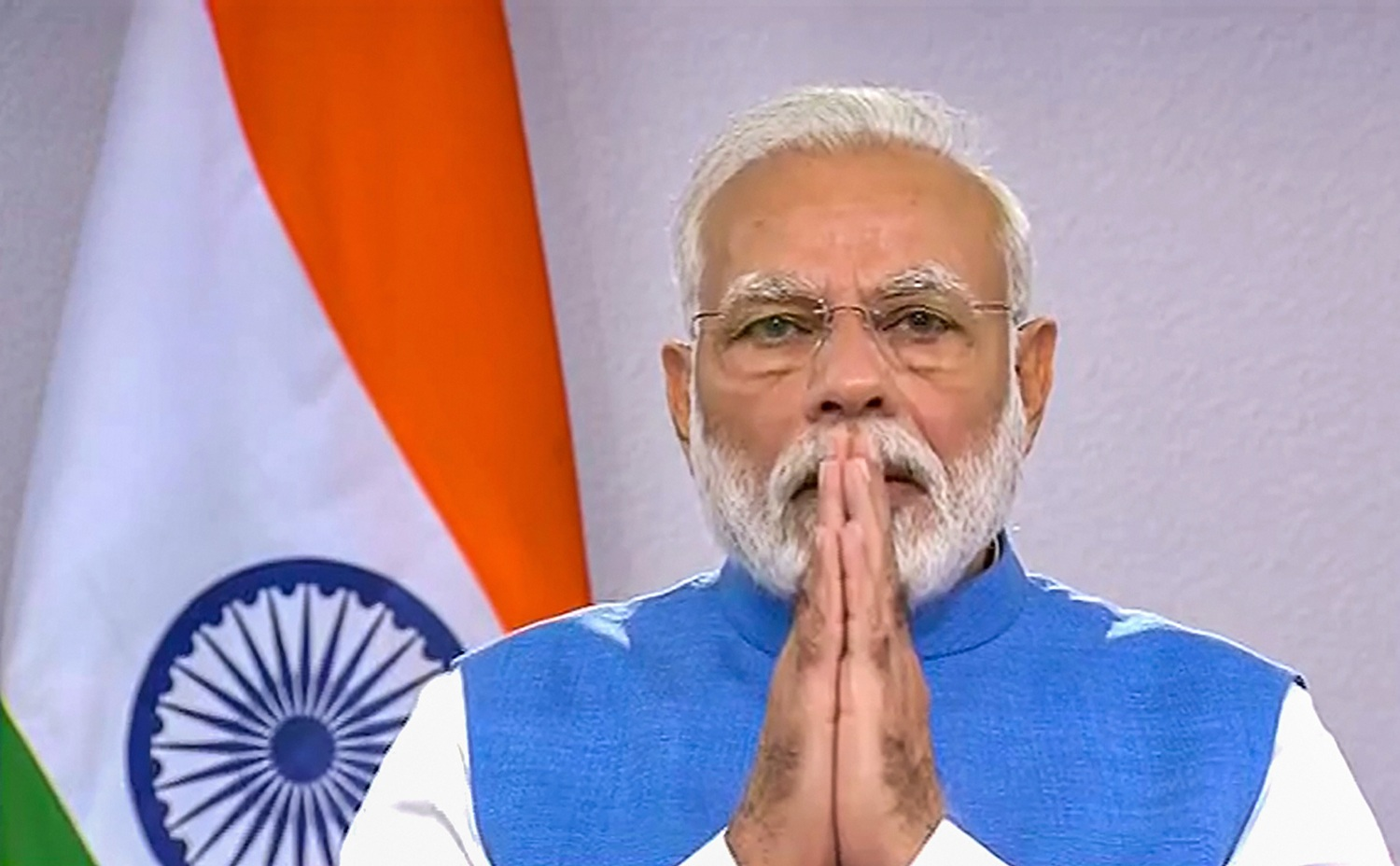 **EDS: VIDEO GRAB** New Delhi: Prime Minister Narendra Modi gestures during his address to the nation on coronavirus pandemic in New Delhi, Thursday, March 19, 2020. (PTI Photo)(PTI19-03-2020_000207B)