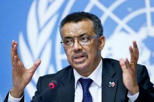 विश्व स्वास्थ्य संगठन के प्रमुख डॉ. टेड्रोस एडनम घेब्रेसियस (फोटो: रॉयटर्स)