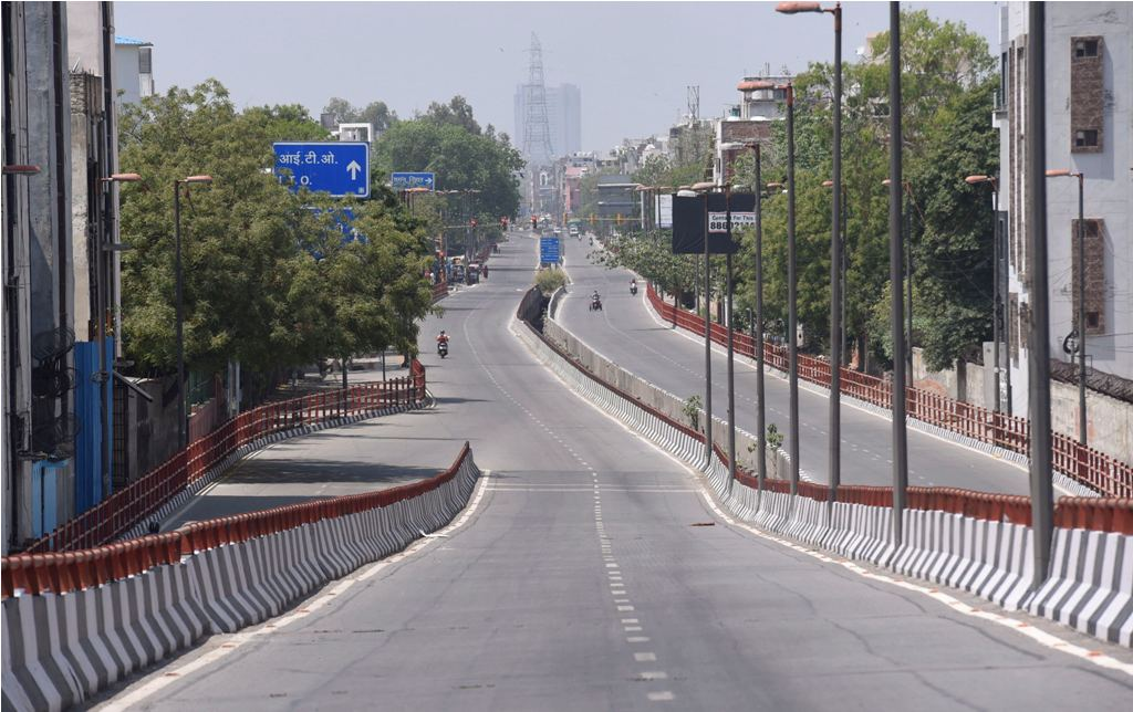 New Delhi: Geeta colony road wears a deserted look during a nationwide lockdown imposed in the wake of coronavirus pandemic, in New Delhi, Friday, April 10, 2020. (PTI Photo/Atul Yadav)(PTI10-04-2020_000076B)