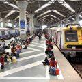 Navi Mumbai: Migrants from Uttar Pradesh & Jharkhand wait at Panvel Railway Station platform to board a Sharmik Special train to reach their native place, during the ongoing COVID-19 lockdown, in Navi Mumbai, Thursday, May 14, 2020. (PTI Photo)(PTI14-05-2020 000154B)