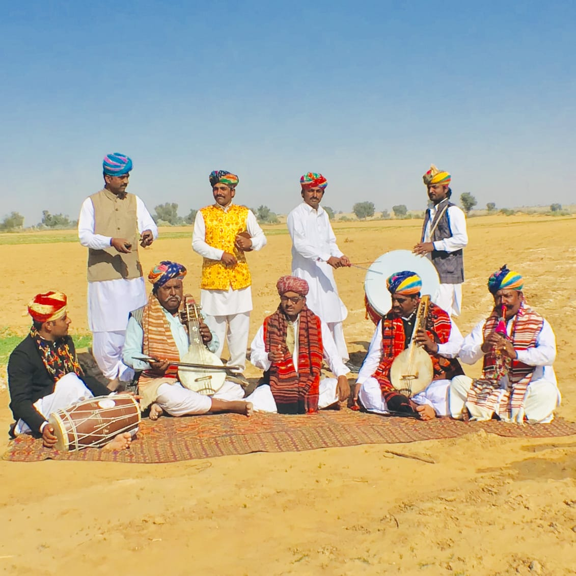 Rajasthan Artist Dare Khan and his group Special Arrangement