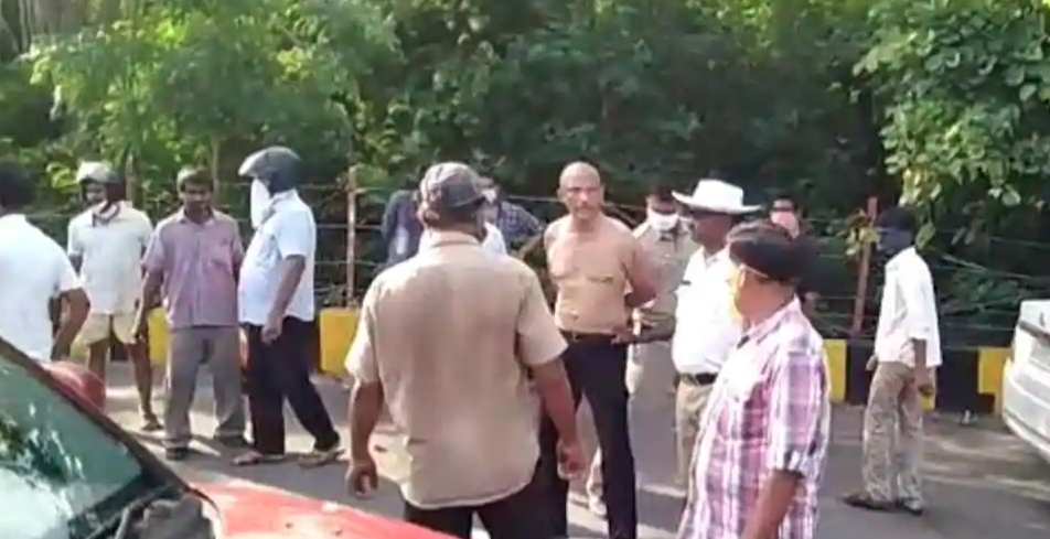 The doctors hand were tied, and he can be seen in a video being dragged on the road. Photo- Video grab