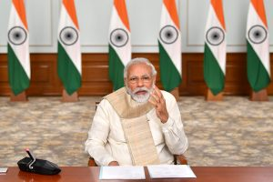 The Prime Minister, Shri Narendra Modi holding the second part of two day interaction with the Chief Ministers via video conferencing to discuss the situation post Unlock 1.0 and plan for tackling the COVID-19 pandemic, in New Delhi on June 17, 2020.