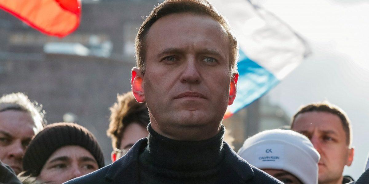 फरवरी 2020 में मास्को में हुई एक रैली में एलेक्सी नवलनी. (फोटो: रायटर्स)