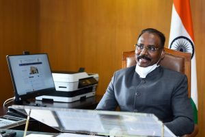 New Delhi: Former J&K governor GC Murmu assumes office of the Comptroller and Auditor General (CAG) of India, in New Delhi, Saturday, Aug 8,2020. (PTI Photo/Kamal Singh)(PTI08-08-2020 000042B)