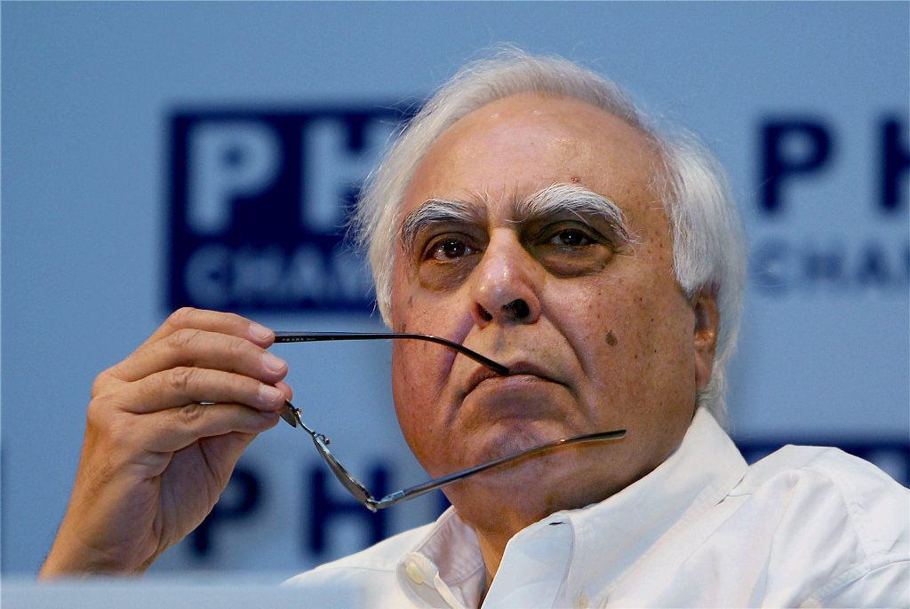 New Delhi: In this May 30, 2012 file photo, senior Congress leader Kapil Sibal in New Delhi. Sibal rebutted after Rahul Gandhi charged that the letter seeking leadership changes was written in cahoots with the BJP, during a CWC meeting, Monday, Aug. 24, 2020. (PTI Photo/Kamal Singh)