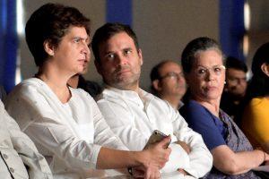 प्रियंका गांधी, राहुल गांधी और सोनिया गांधी. (फोटो: पीटीआई)