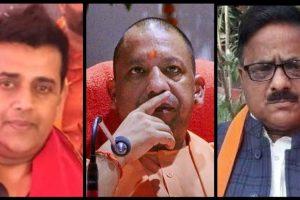 गोरखपुर के सांसद रवि किशन, मुख्यमंत्री योगी आदित्यनाथ और विधायक राधा मोहन दास अग्रवाल. (फोटो: पीटीआई/फेसबुक)