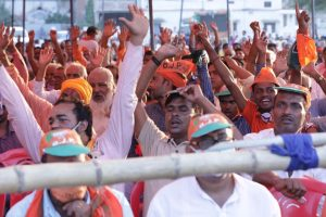 30 अक्टूबर 2020 को सीवान के गांधी मैदान में हुई भाजपा अध्यक्ष जेपी नड्डा की रैली (फोटो साभार: ट्विटर/जेपी नड्डा)
