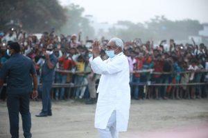 एक जनसभा में मुख्यमंत्री नीतीश कुमार. (फोटो साभार: फेसबुक/जदयू)