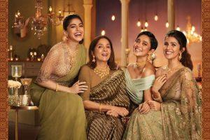 कंपनी के नए दिवाली विज्ञापन में अभिनेत्री नीना गुप्ता, निमरत कौर, सयानी गुप्ता और अलाया एफ. ने काम किया है. (फोटो साभार: ट्विटर)