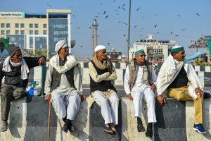New Delhi: Farmers during their ongoing agitation against new farm laws, at Ghazipur border, in New Delhi, Monday, Jan. 11, 2021. (PTI Photo/Arun Sharma) (PTI01 11 2021 000110B)