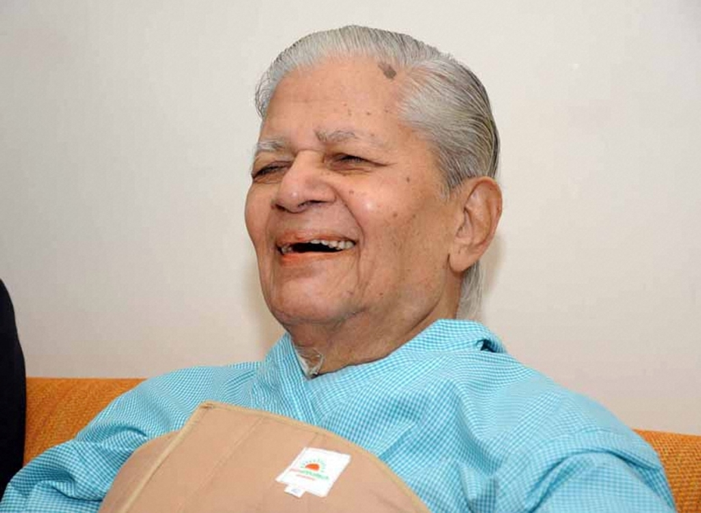 Gandhinagar: File photo of veteran Congress leader Madhavsingh Solanki, who passed away at his residence in Gandhinagar, Saturday, Jan. 9, 2021. Solanki, who also served as the External Affairs Minister of India and as the Chief Minister of Gujarat for four times, was 93. (PT Photo) (PTI01 09 2021 000026B)