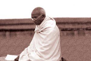 Mahatma Gandhi Doing Meditation Photo Gandhi dot Gov dot In