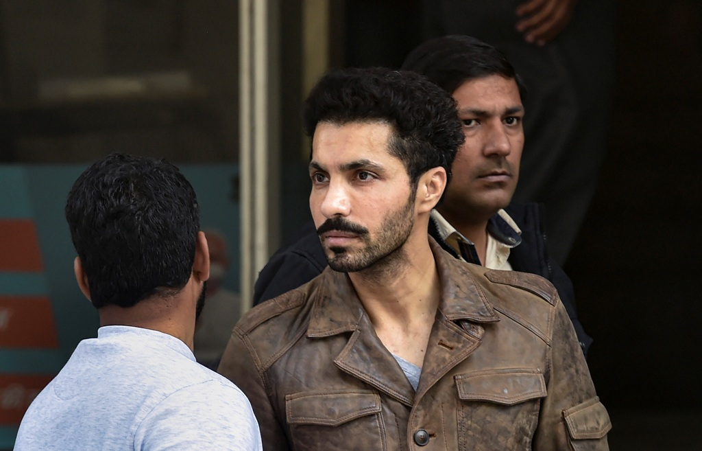 New Delhi: Actor Deep Sidhu, accused in the violence on Republic Day during a farmers tractor rally, arrested by Delhi Police special cell in New Delhi, Tuesday, Feb. 9, 2021. (PTI Photo/Ravi Choudhary)(PTI02 09 2021 000137B)