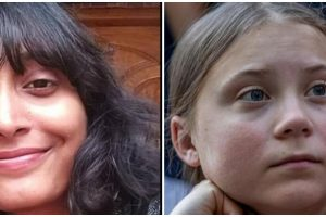 दिशा रवि और ग्रेटा थनबर्ग. (फोटो साभार: फेसबुक/रॉयटर्स)
