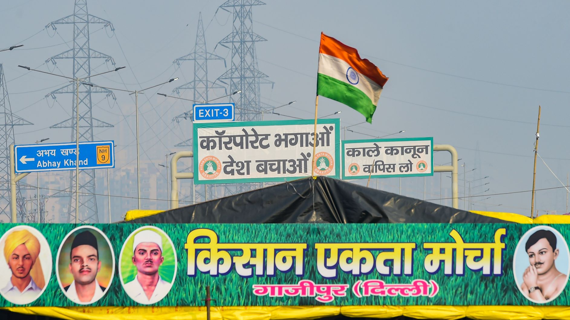 Farmers Protest Ghazipur Border PTI Photo