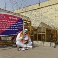 New Delhi: Bharatiya Kisan Union Spokesperson Rakesh Tikait having his meal at Ghazipur border during farmers' ongoing protest against the new farm laws, in New Delhi, Tuesday, Feb. 2, 2021. (PTI Photo/Vijay Verma)(PTI02_02_2021_000070B)