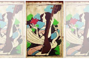 चित्रकार एमएफ हुसैन की कृति 'सरस्वती' का संपादित स्वरूप. (साभार: इंडिया आर्ट्स डॉट इन)