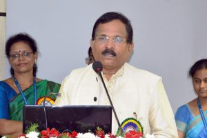 The Minister of State for AYUSH (Independent Charge), Shri Shripad Yesso Naik addressing the gathering at the inauguration of the newly constructed building of 'Captain Srinivasa Murthy Regional Ayurveda Drug Development Institute' of Central Council for Research in Ayurvedic Sciences (CCRAS), in Arignar Anna Hospital campus, Chennai on May 02, 2018.