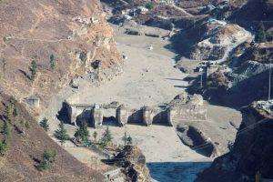 Chamoli: Damaged Dhauliganga hydropower project after a glacier broke off in Joshimath causing a massive flood in the Dhauli Ganga river, in Chamoli district of Uttarakhand, Sunday, Feb. 7, 2021. (PTI Photo)(PTI02 07 2021 000219B)
