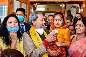 एक कार्यक्रम के दौरान मुख्यमंत्री तीरथ सिंह रावत. (फोटो: पीटीआई)
